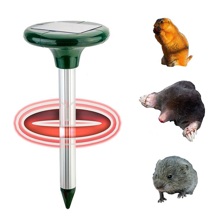 Solar Power Ultrasonic Mole Repellent Snake Bird Mosquito Mouse Pest Repeller Control For Garden Yard
