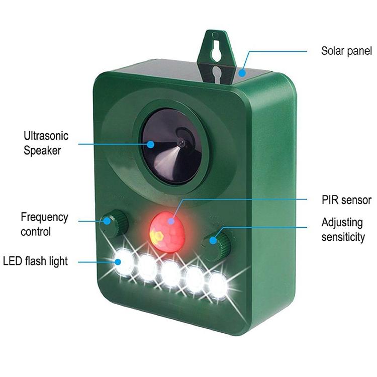 Solar Power Ultrasonic Pest Control Repeller Keep Animal Mouse Bird Cat Dog Bat Away