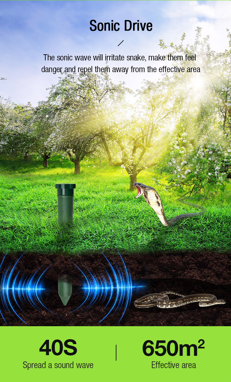 Top Sell Waterproof Ultrasonic Bird mouse ROHS Sonic Wave Solar Powered Animal Repeller